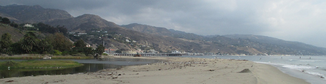 Sand Berm Constructed at Malibu